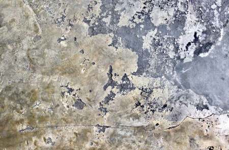 Old Crack and Distressed Grunge Concrete Floor Texture or Cement Road with Copy Space for Text Decorated.
