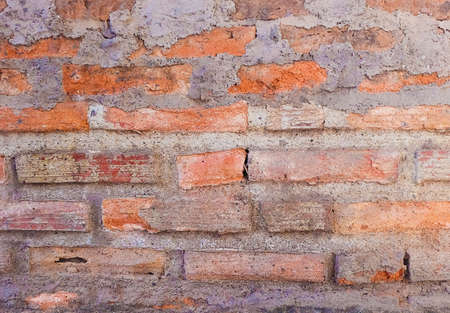 Horizontal Red Brick Wall Texture.
