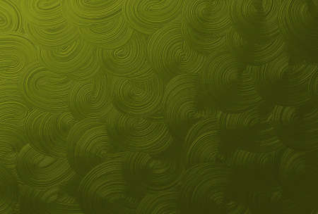 Olive Green Spiral or Swirl Seamless Pattern