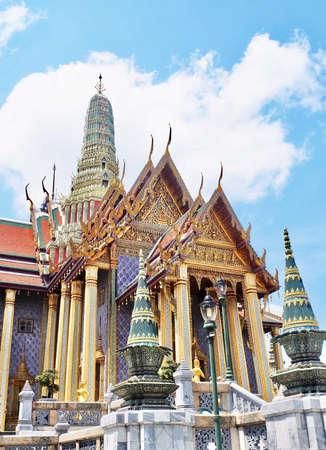 Beautiful Chapels in Wat Phra Kaew Temple and The Grand Palace at Bangkok, Thailand.