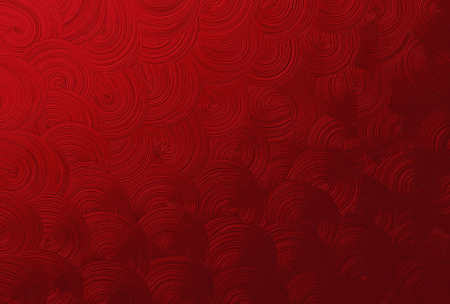 Red Spiral or Swirl Seamless Pattern  or Texture with Copy Space for Text Decorated.