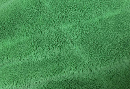 Fabric and Textile, Close Up of Green Cotton Towel or Terry Texture Background with Copy Space for Text Decoration.