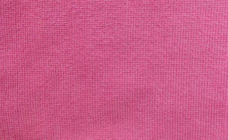 Fabric and Textile, Close Up of Pink Cotton Towel or Terry Texture Background with Copy Space for Text Decoration.