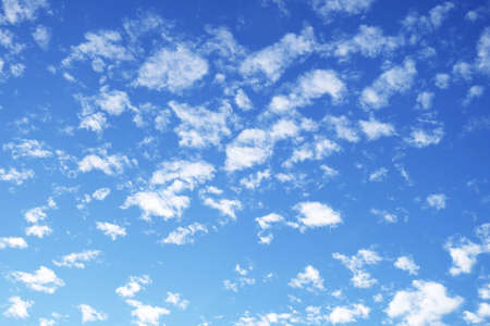 Background Pattern, Summer Blue Sky with Fluffy White Clouds with Copy Space for Text Decorated.