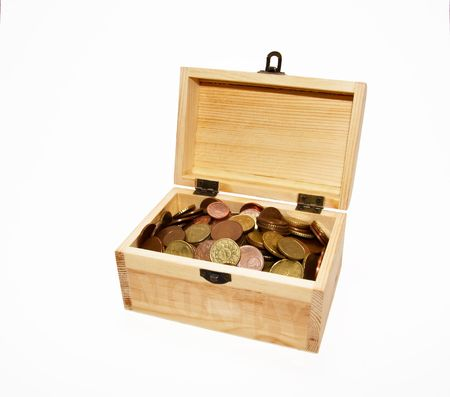 chest with coins photo