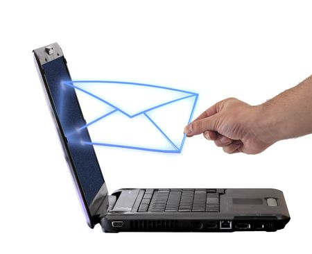 send email envelope in a laptop Stock Photo - 8222188