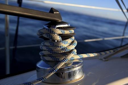 winch: sailboat winch Stock Photo