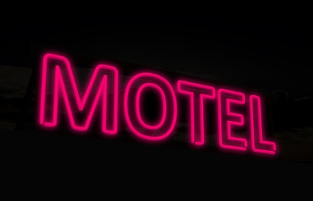 Neon motel sign photo
