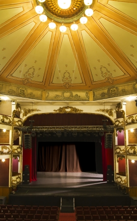 stage performance: empty stage of an old theater