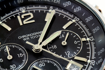 close up of a black watch photo
