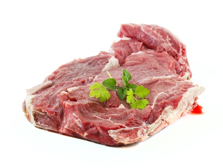 Fresh raw cow meat isolated Stock Photo - 13748791