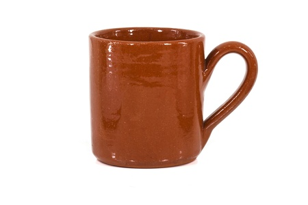 brown clay mug photo