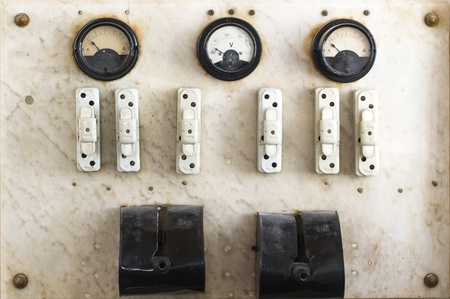 vintage fuse box and switch photo