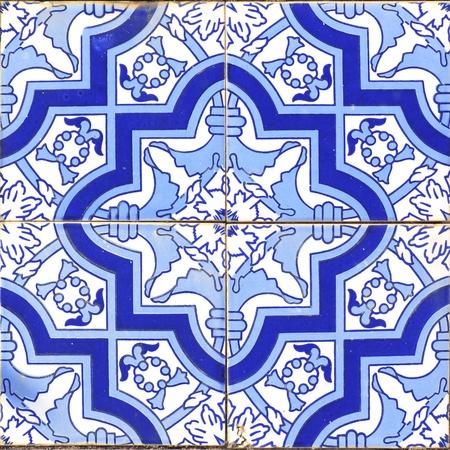 tile grout: vintage portuguese blue tiles