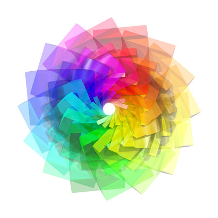 3d color spiral abstract background photo
