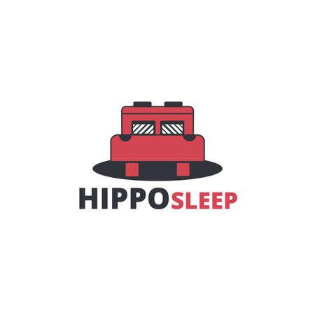 hippo sleep icon  Ilustracja