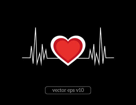 article icon: abstract vector illustration of heart line Illustration