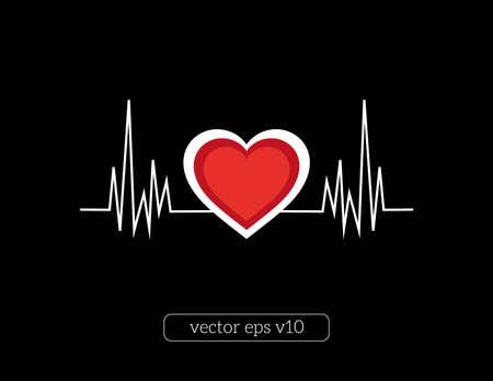 Illustrazione vettoriale astratta della linea di cuore Archivio Fotografico - 43457970