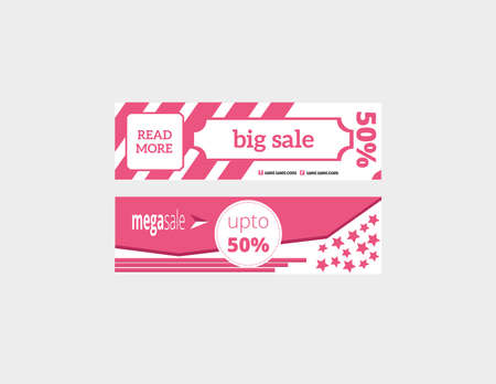 banners template vector big sale set