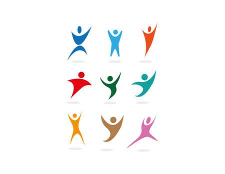 clean off: vector sport people symbols set