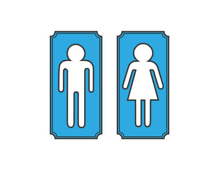 secluded: Banners restroom, toilet signs
