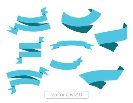 Blue ribbon patterns