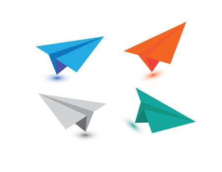 Vector Papier Vliegtuig Vector Icon-symbool Set