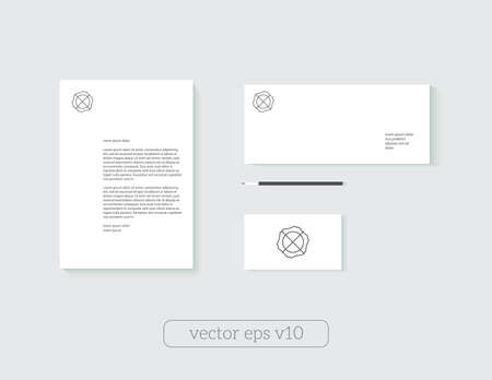 Template mock-up for corporate identity