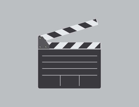 article icon: clapperboard vector illustration