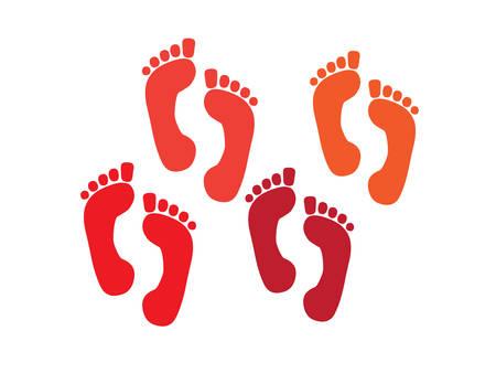 salts: set of a print foots