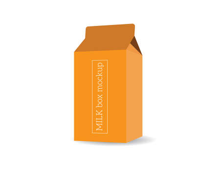 Package, milk box vector template mock-up