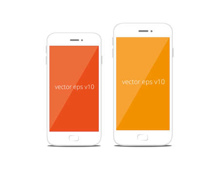 Modern smart phone mobile phone vector isolation isolated, realistic illustration Stock fotó - 43804934