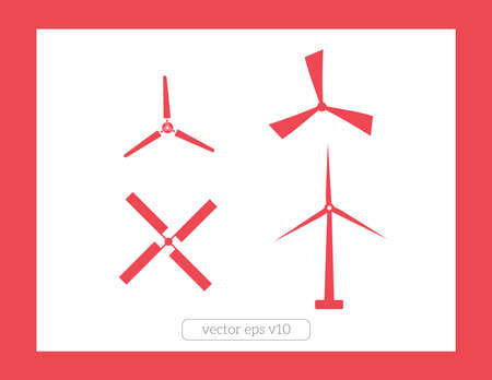 windmill icons vector set