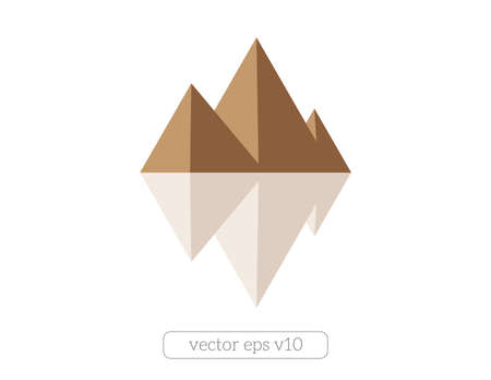 Three Egypt pyramids vector. Tourism Ilustrace
