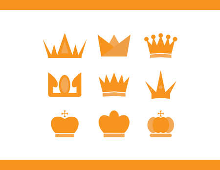 Crowns vector icons Illustration