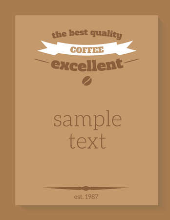 Coffee poster retro vintage style banner vector Illustration