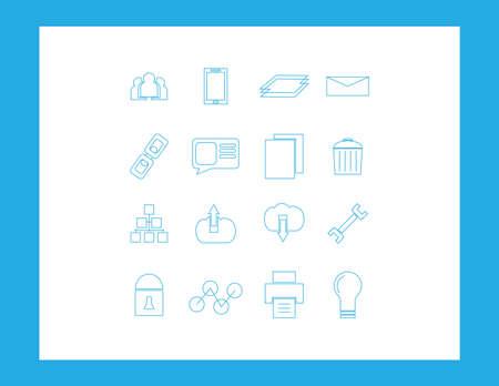 communicatio: web icons set