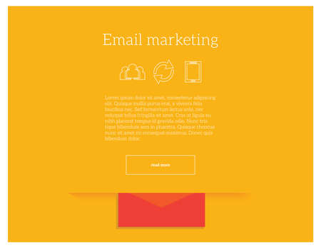 Email marketing concept vector illustration of website landing page template