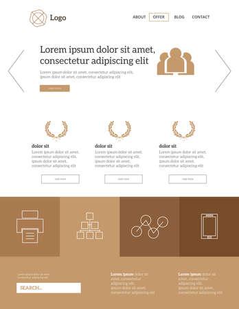 Modern website logo template gold