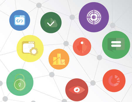 communication concept: Social network web icons Communication Business concept infographic