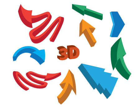 turning point: 3D Arrow Signs