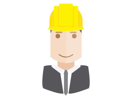 architect: construction architect flat avatar