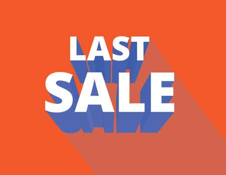 last chance: Last meeting, final sale design flat design long shadow Illustration