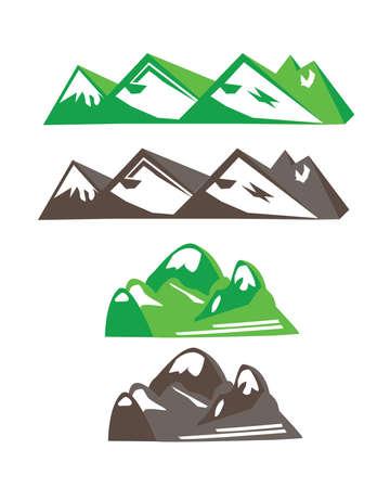 mountains vector set Stock Vector - 44463232