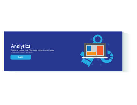 Flat style business analytics strategy management concept template Web banners Illustration