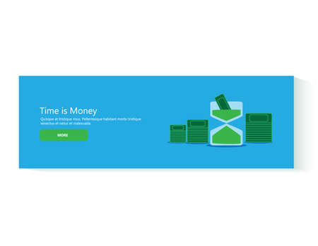 financial market: Flat design concept for business, finance, economy, investment, marketing, consulting, financial market, business strategy, m-commerce. Concept for web banner Time is Money Illustration