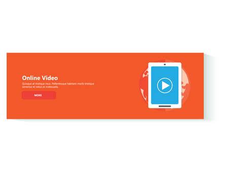 Online Video banner concept illustrations