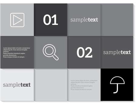 Vector stationery template design elements Documentation for business Illustration