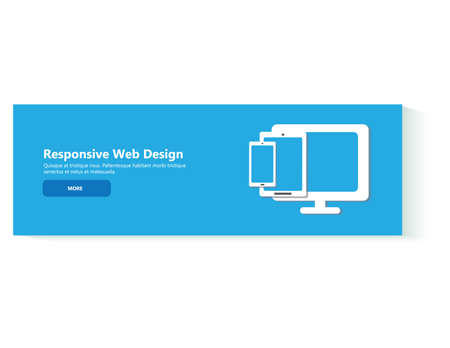 web marketing: Flat design illustration concepts for the creative process, graphic design, web design development, responsive web design, coding. Web banner Illustration