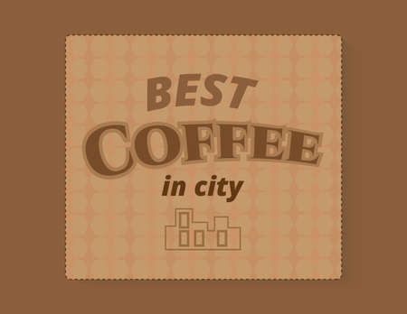 best coffee: Vintage banner card the best coffee in city